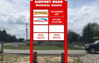 Airport Road Business Centre Sign Rendering